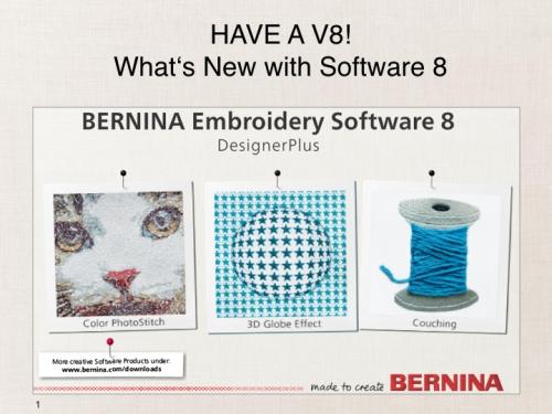 Bernina Embroidery Software V8 Is Here Bernina Middelburg Mpu